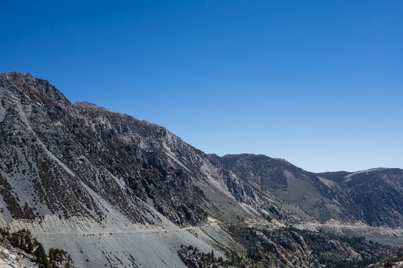 Highway 120 descent from Tioga Pass