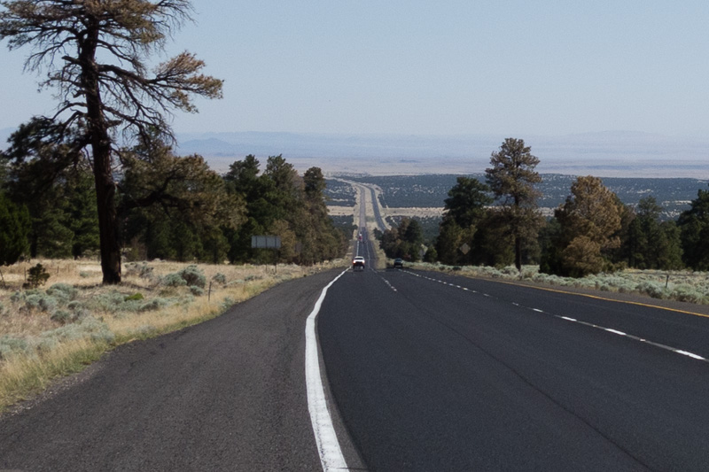 Looking back at the endless climb to Flagstaff