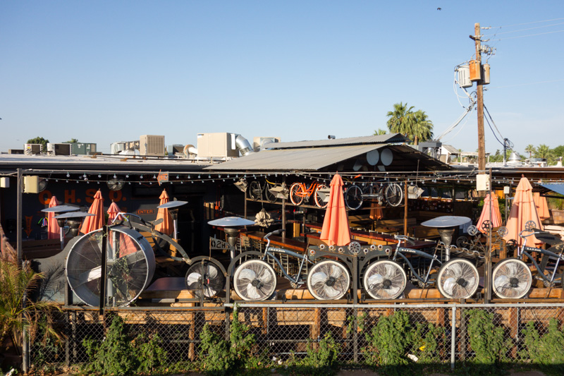 A neat bar right off the canal levee in Phoenix
