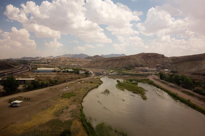 The Rio Grande River in El Paso, TX