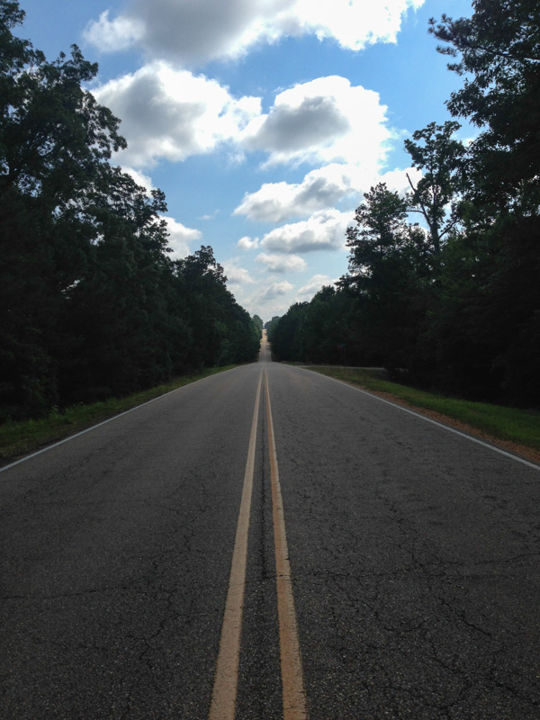 Endless rolling hills in Mississippi
