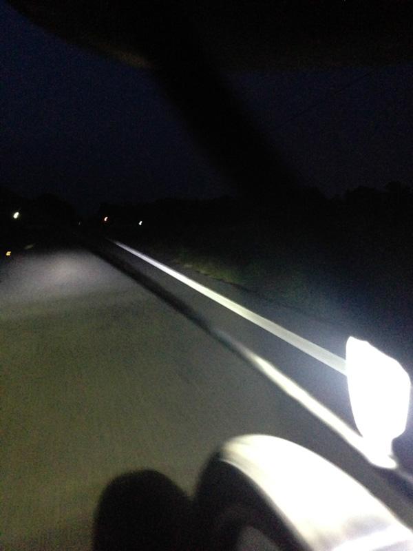 Night riding as I neared Gadsden