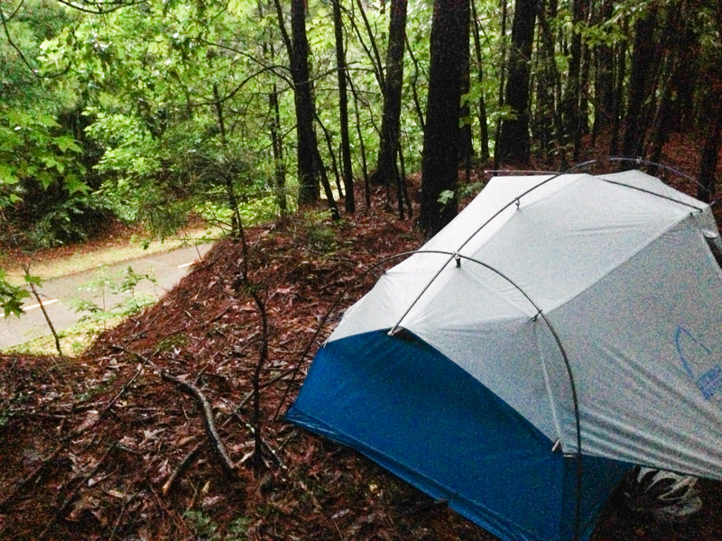 Technically, camping wasn't allowed so I had to make sure I was out-of-site from any passersby
