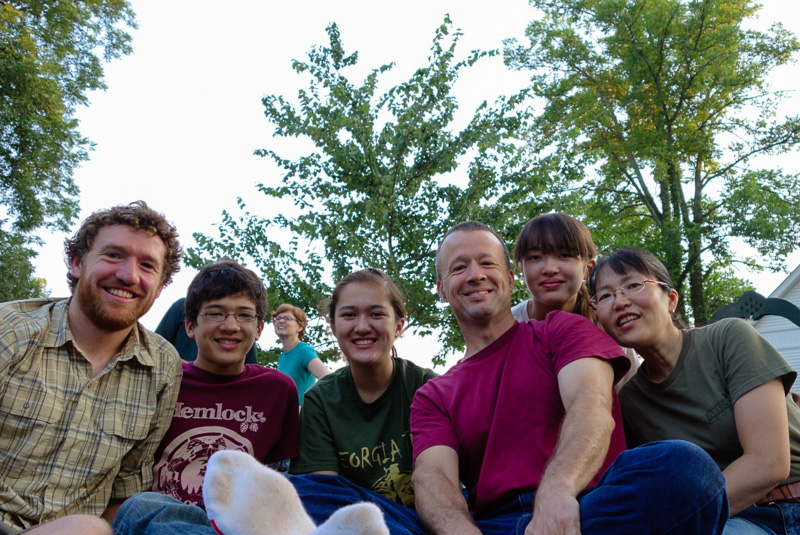 Family shot after a few weeks in Georgia. From left to right: Me, Etowah, Sarah. Papa, Selu and Sayuri